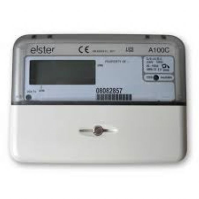 elster electric meter how to read